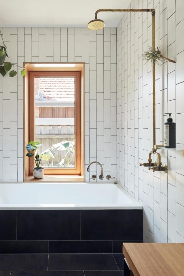 A stylish bathroom.