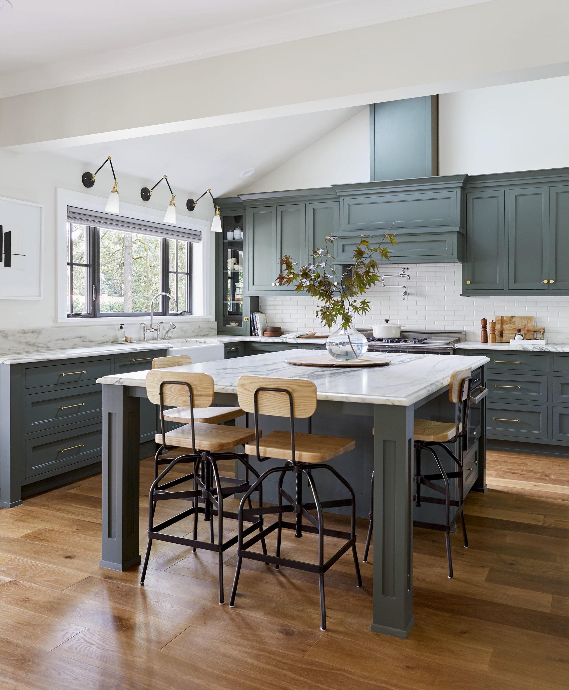 A chic modern home kitchen.